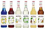 Monin Cocktail Set (6 x 0.7l Flaschen: Curacao...