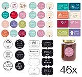 46x Sticker Etiketten selbstklebend...