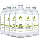 Bioethanol 96,6 – 6x1L Flaschen zum handlichen...