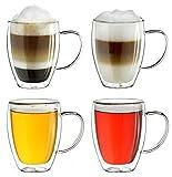 Creano doppelwandiges Thermoglas mit Henkel 400ml,...