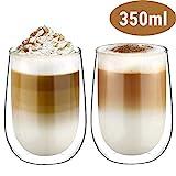 Glastal Doppelwandige Latte Macchiato Glaser Set...