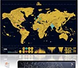 Amazy Weltkarte zum Rubbeln XXL inkl. Rubbelchip +...
