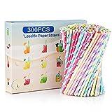LessMo 300 Stk. Papierstrohhalme, Biologisch...