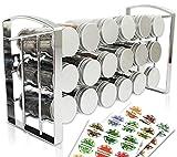 LEANDER DESIGN® Gewürzregal für Küchenschrank...
