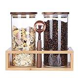 KKC kaffeebehälter Glas Luftdicht - Kaffeedose...