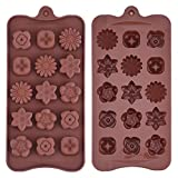 Silikon Schokoladenform Blumenförmig...