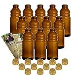 gouveo 12er Set Smoothie-Flaschen 300 ml inkl....