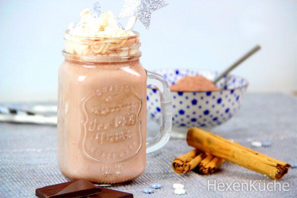 Winterliches Kakaopulver
