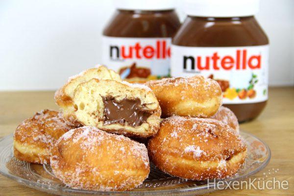 Mini Nutella Krapfen