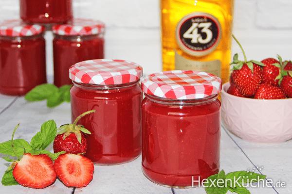 Erdbeer - Vanille Marmelade mit Likör 43