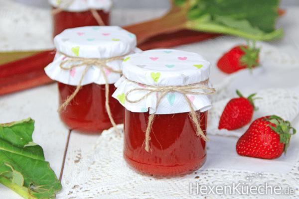 Erdbeer - Rhabarber Marmelade