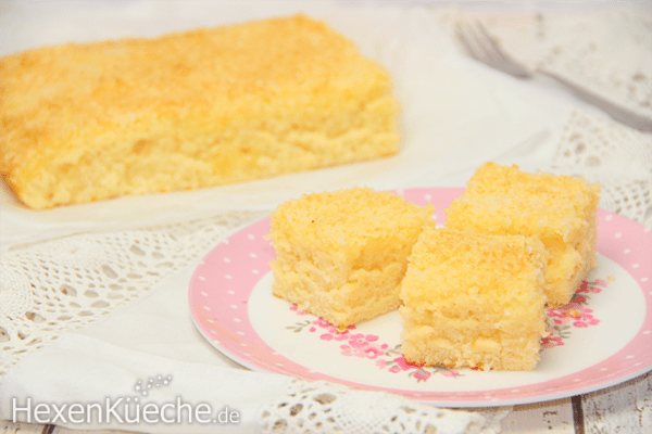 Saftiger Kokos-Buttermilchkuchen vom Blech