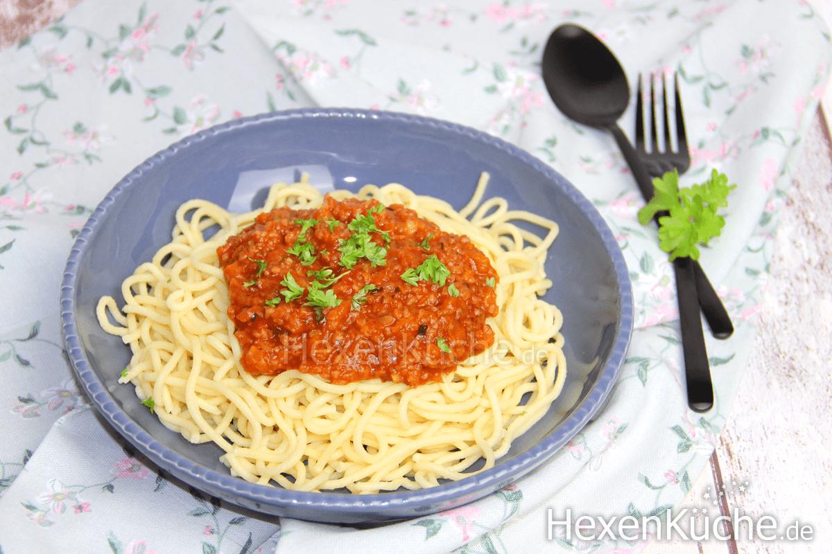 Grünkern Bolognese mit Spagetti | Thermomix Rezept